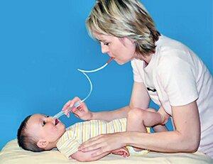 У ребенка заложен нос, а соплей нет